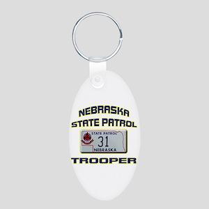 Nebraska State Patrol Aluminum Oval Keychain
