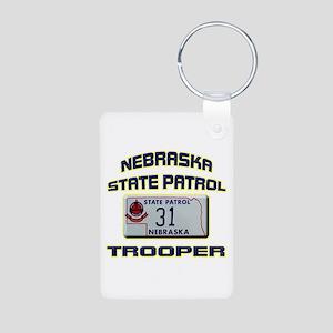 Nebraska State Patrol Aluminum Photo Keychain