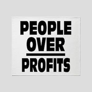 People Over Profits: Throw Blanket