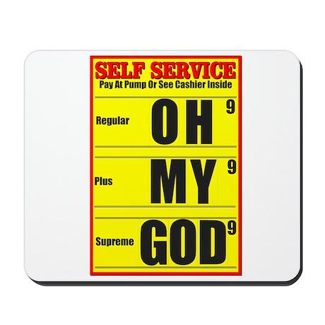 Sticker Shock (Yellow) Mousepad
