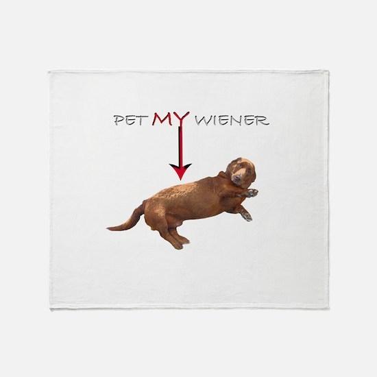 Pet My Wiener Throw Blanket