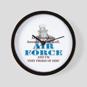 Air Force Grandson Wall Clock