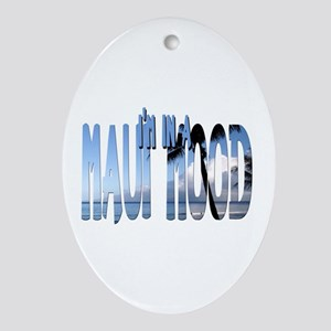 Maui Mood Oval Ornament