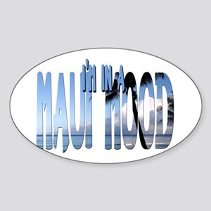 Maui Mood Oval Sticker