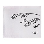 Owl in tree branches - wind Throw Blanket