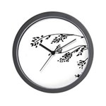 Owl in tree branches - wind Wall Clock