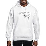 Owl in tree branches - wind Hooded Sweatshirt