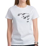 Owl in tree branches - wind Women's T-Shirt