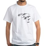 Owl in tree branches - wind White T-Shirt