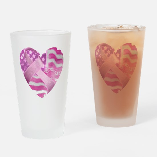 Cute Breast cancer awareness month Drinking Glass