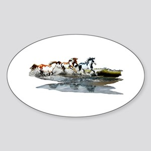 Painted Ocean Sticker (Oval)