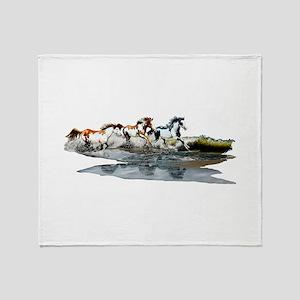 Painted Ocean Throw Blanket