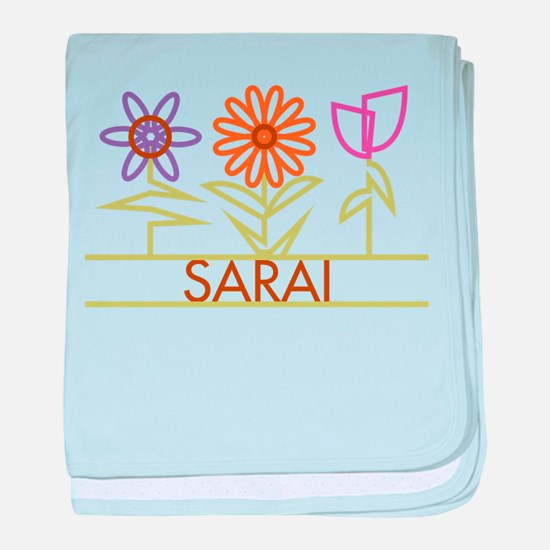 Sarai with cute flowers baby blanket