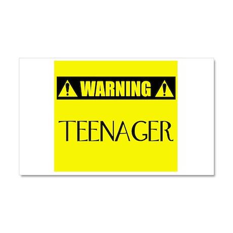 WARNING: Teenager Car Magnet 20 x 12