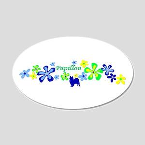 Papillon 22x14 Oval Wall Peel