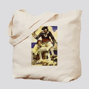 Blackbeard Pirate Tote Bag
