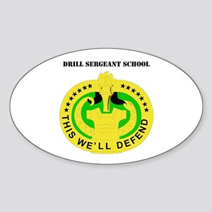 DUI - Drill Sergeant School with Text Sticker (Ova