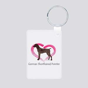 Heart My GSP Aluminum Photo Keychain
