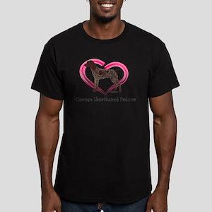 Heart My GSP Men's Fitted T-Shirt (dark)
