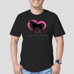 Heart My GSP Men's Fitted T-Shirt (dark)