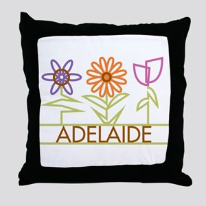 Adelaide with cute flowers Throw Pillow