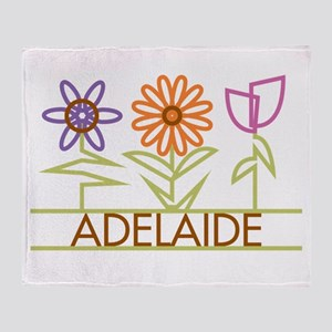 Adelaide with cute flowers Throw Blanket