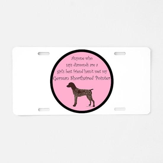 GSP - Girls Best Friend Aluminum License Plate