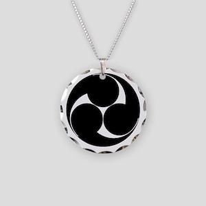Hidari mitsu tomoe Necklace Circle Charm