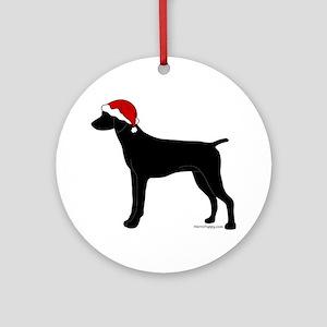 GSP Santa Ornament (Round)