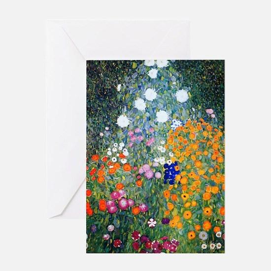 Klimt - Flower Garden Greeting Card