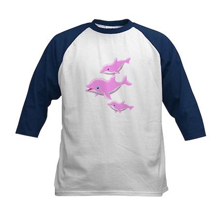 I Like Dolphin(1) Kids Baseball Jersey