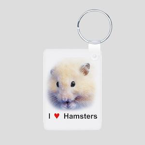 Hamsters; Syrian Hamster Aluminum Photo Keychain