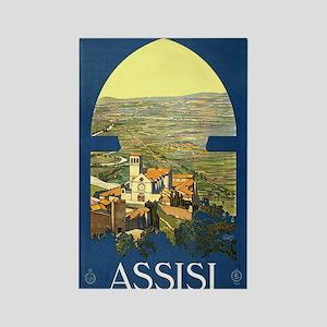 Assisi Italia Rectangle Magnet