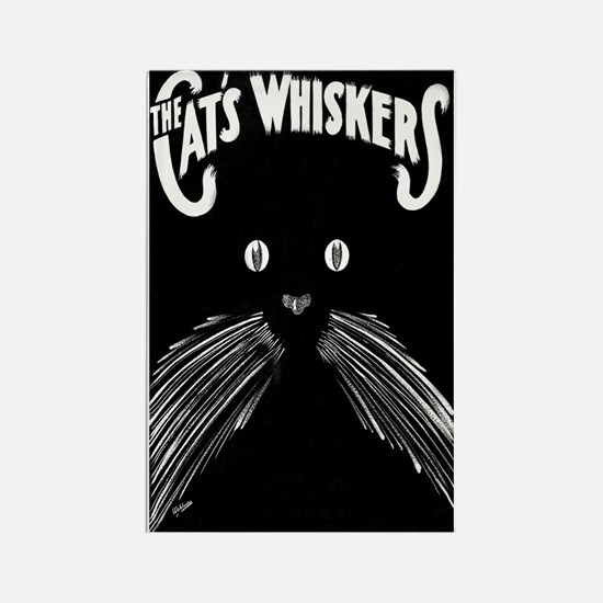 The Cats Whiskers Rectangle Magnet