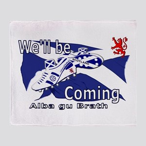 Scotland We'll be Coming Throw Blanket