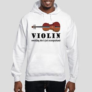 Violin Humor Music Hooded Sweatshirt