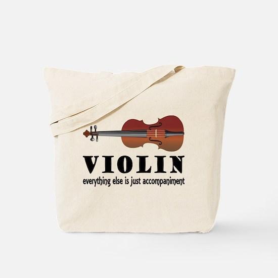 Violin Humor Music Tote Bag