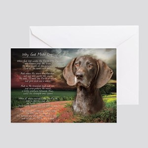 """""""Why God Made Dogs"""" GSP Greeting Card"""