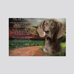 """Why God Made Dogs"" GSP Rectangle Magnet"