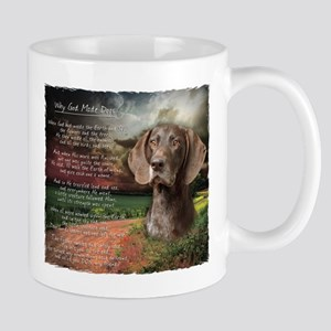 """Why God Made Dogs"" GSP Mug"