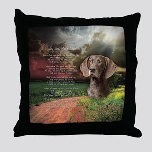 """Why God Made Dogs"" GSP Throw Pillow"