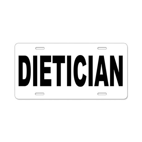 Dietician Aluminum License Plate