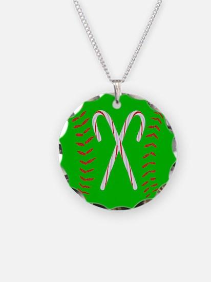 Christmas Softball Necklace
