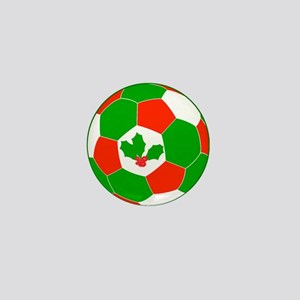 Christmas Soccer Ball Mini Button