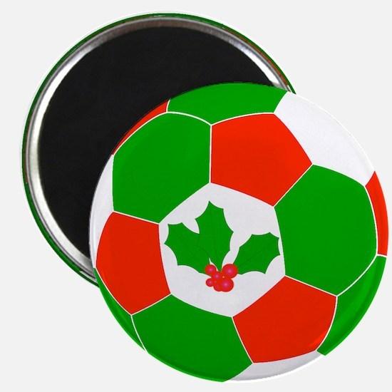 Christmas Soccer Ball Magnet