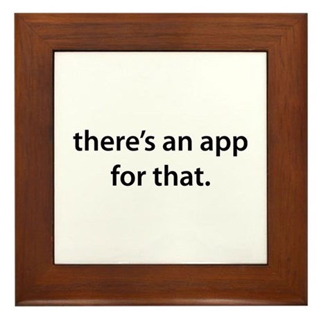 there's an app for that Framed Tile