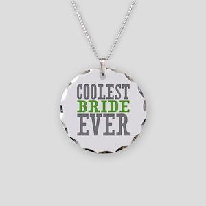 Coolest Bride Necklace Circle Charm