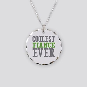 Coolest Fiance Necklace Circle Charm