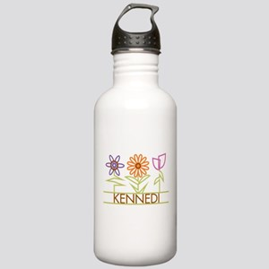 Kennedi with cute flowers Stainless Water Bottle 1