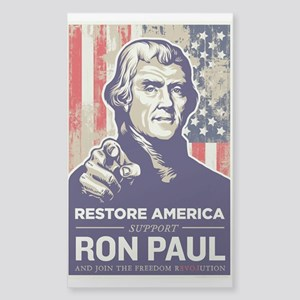 Ron Paul 2012 Sticker (Rectangle)